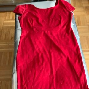 Red Forever 21 a line cotton dress